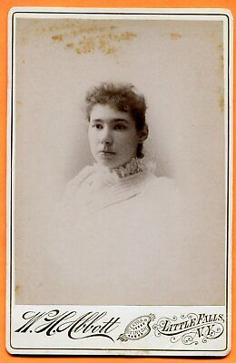 Little Falls, NY, Portrait of a Young Woman, by Abbott, circa 1890 Backstamp