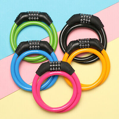 1PC Cycling Security 4 Digit Combination Password Bike Bicycle Cable Chain Lock