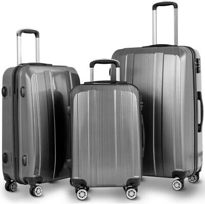GLOBALWAY 20 24 28 3Pc Luggage Set Suitcase W/ TSA Lock