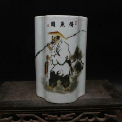 Chinese ancient antique hand make character  Story  Chopstick barrel c56