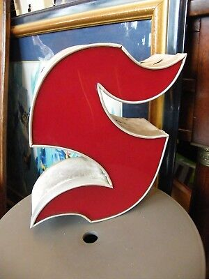 Letter S Gothic Red Brand Name Light Shop Years 60 Deco Loft 33 cm N1
