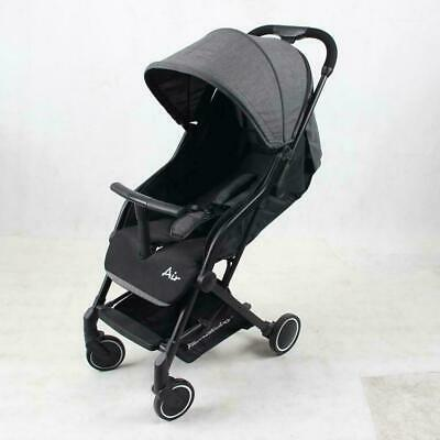 Familidoo Air Stroller (Dark Grey) - Suitable From Birth, Easy One-Handed Fold