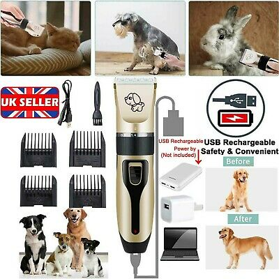 Rechargeable Cat Dogs Clipper Cordless Pet Clippers Hair Shaver Grooming Trimmer