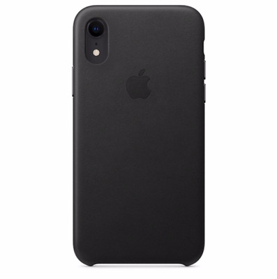 """Black iPhone XR 6.1"""" Apple Genuine Original Protective Leather Cover Case"""