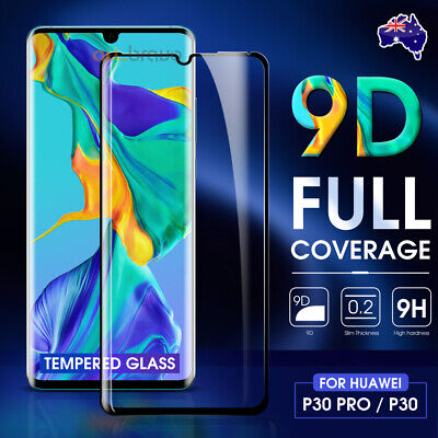 For Huawei P30 P30 Pro 9D Full Coverage / Lens Tempered Glass Screen Protector