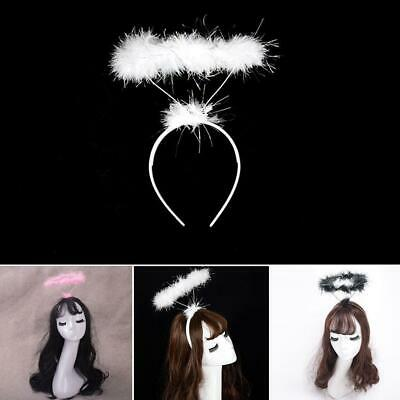 Feather Halo Headband Ring Angel Fairy Costume Hen Night Party Fancy Dress up AU