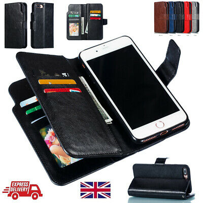 Premium 9 Card Slots Magnetic Wallet Leather Flip Case For iPhone 6S 8+ X XS Max