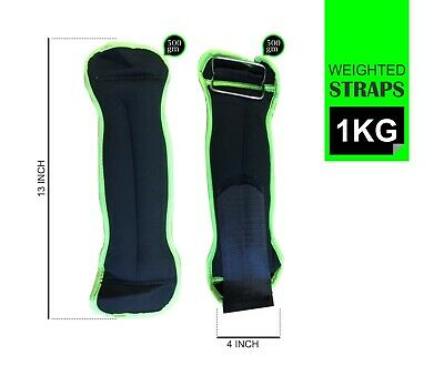 1kg Ankle Weights Wraps Wrist Weights Adjustable Strap Resistant Leg Running