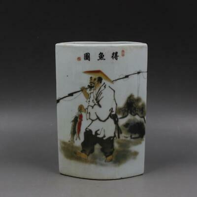Chinese ancient antique hand make character  Story  Chopstick barrel c28