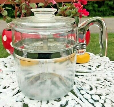 Vintage PYREX 7759 B Complete 9-CUP Glass Percolator Vintage Coffee Pot