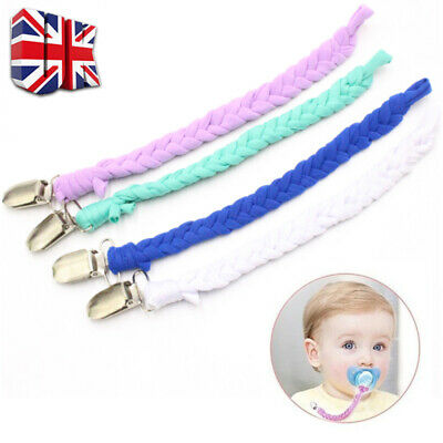 Dummy Clip Baby Beautiful Soother Clips Chain Holder Pacifier Strap Safety UK