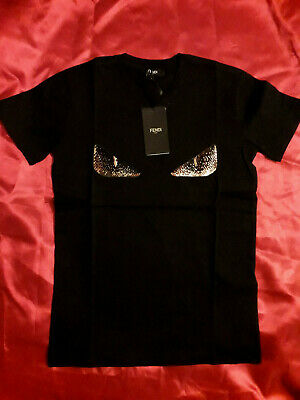 Fendi Men T-shirt  New With Tags Short Sleeve Color Black