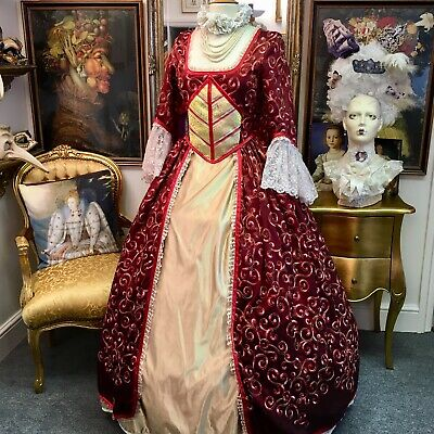 Really Gor 18th Century Georgian Theatrical Style Dress Beautiful Detailing