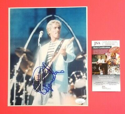 "Roger Daltrey- The Who Signed Vintage 8""X10"" Color Photo Certified With Jsa Coa"
