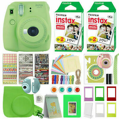 New Fujifilm Instax Mini 9 Camera+40Sheets Film+Album+Filter+Lens+Gift Set Green