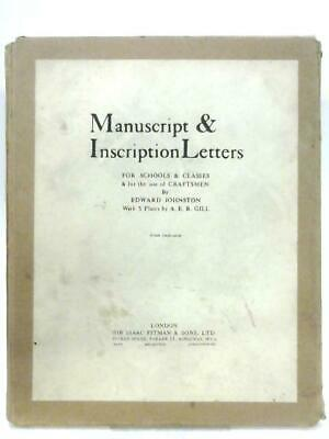 Manuscript & Inscription Letters (Edward Johnston - 1950) (ID:18762)