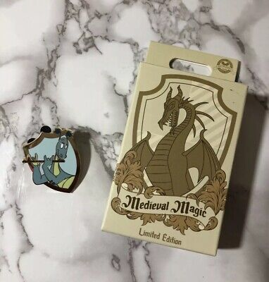 2019 Medieval Magic Disney Dragon Mystery Set Reluctant Dragon LE 480 Pin NO BOX