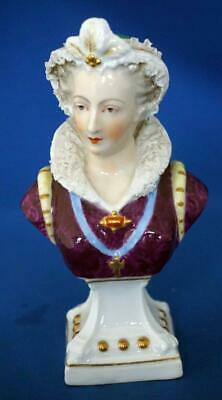 Samson French Porcelain Antique Figurine Bust  Mary Queen of Scots