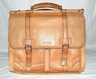 7f3439e5c Kenneth Cole Reaction Cognac Soft Leather Laptop Bag Holds Up To 15