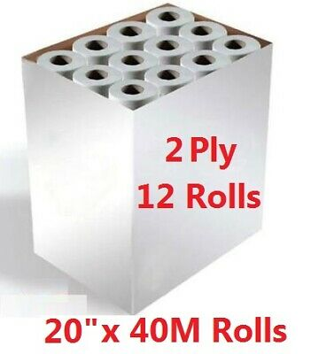"Hygiene Roll White 20"" Couch Rolls (12 Rolls) Medical Rolls perforated"