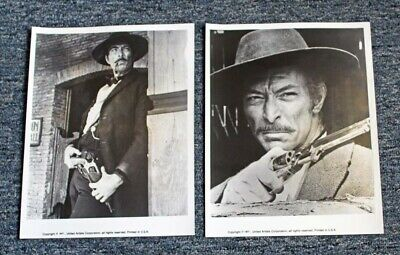"""2 1977 Lee Van Cleef """"The Good, The Bad & The Ugly"""" (Clint Eastwood) B&W Photos"""