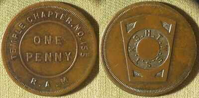 TOKENS : MASONIC Penny Royal Arch Ch 21 Baltimore MD Nice