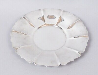 Superb Antique c1900 Shreve San Francisco Sterling Silver Fluted Tray No Mono