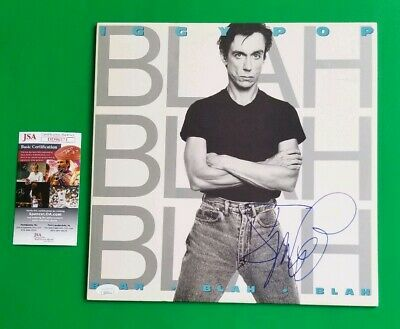 "IGGY POP SIGNED ""BLAH BLAH BLAH"" ALBUM CERTIFIED AUTHENTIC WITH JSA COA Stooges"