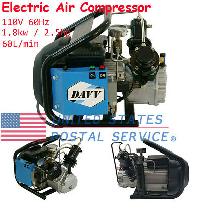 Paintball 110V 60Hz 4500Psi Electric Air Compressor W/Auto Stop For PCP Game US