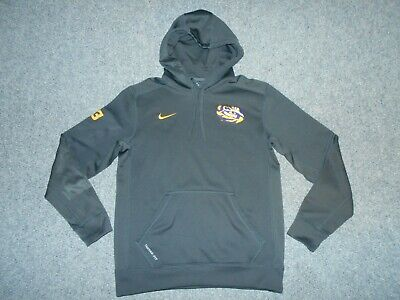 Nike Therma Fit Ncaa Lsu Louisiana State Tigers Mens Medium Pullover Hoodie   A1