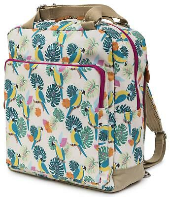 Pink Lining WONDER BAG BACKPACK - PARROT CREAM Baby Changing Nappies BN
