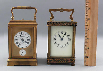 Antique 19thC Hazebrouco Paris Repeater Alarm & 2nd French Carriage Clock, NR