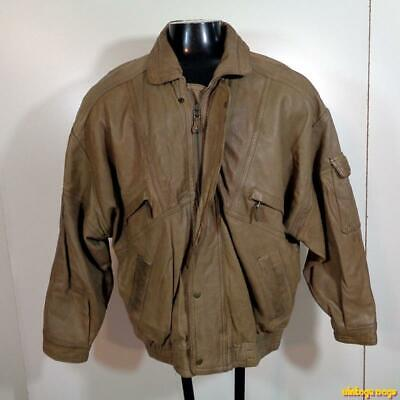 5a1f5d742 SCULLY LAMBSKIN LEATHER Flight Bomber JACKET Mens Size L 44 Brown ...