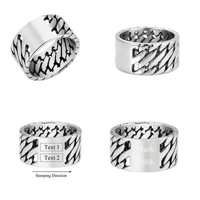 Men's Personalised Engraved Stainless Steel Celtic Knot Ring Jewelry Gift 1PC