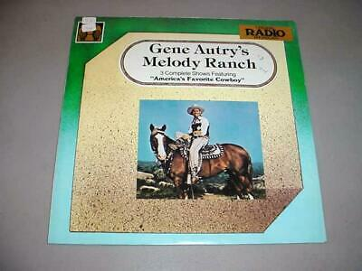 GENE AUTRY'S MELODY RANCH LP Golden Age 5012 - 3 Radio Shows
