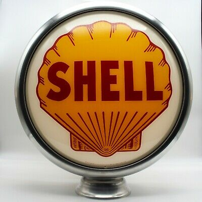 "15"" SHELL Gas Pump Globe Lens (1)"