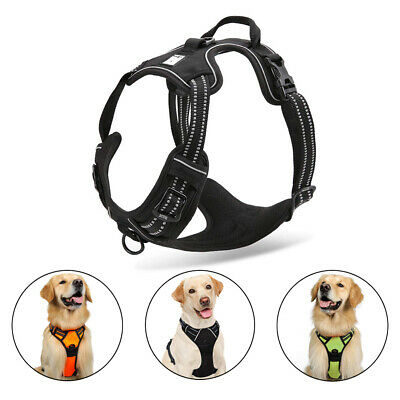 Dog Harness Collar Lead Non Pull Strong Adjustable  Soft Vest Large Medium Puppy