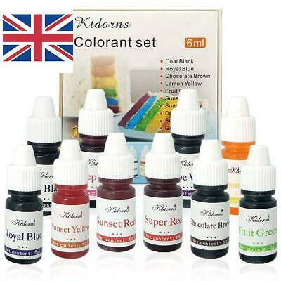 Food Colouring Food Dye Flo Concentrated Liquid Food Air Brush - 10 Colours
