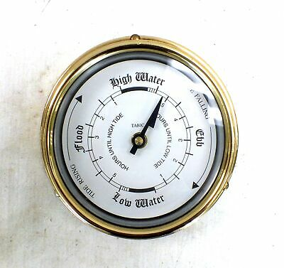 TABIC Brass Vintage Antique Style TIDE CLOCK Battery Powered Nautical  - P05