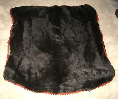 "HORSE HAIR HIDE Carriage Lap Blanket by Cownie Tanning 55"" x 65"" Est. 1880-1930"