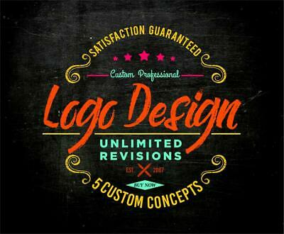Professional Custom Logo Design | 100% Unlimited Revision w/ Vector Source Files