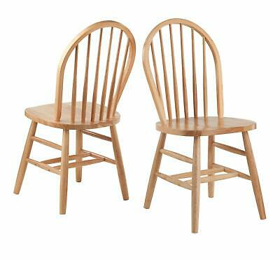 Classic Stylish Windsor Wooden Chairs Set of 2 Vintage Rustic Modern Any Room