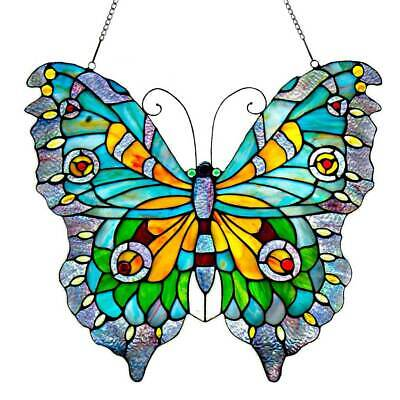 "River of Goods 8889  20-1/2"" x 21-3/4"" Tiffany Style Swallowtail Butterfly"