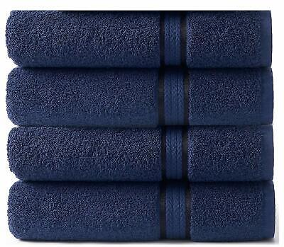 Cotton Craft - 4 Pack - Ultra Soft Oversized Extra Large Bath Towels 30X54 Night