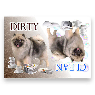 KEESHOND Clean Dirty DISHWASHER MAGNET Must See DOG