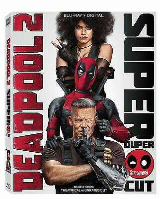 DEADPOOL 2 (Blu-Ray + Digital) Super Duper Cut 2 Disc (NO Slipcover) NEW