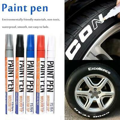 5x Waterproof Permanent Paint Marker Pen Car Tire Tread Rubber For Universal