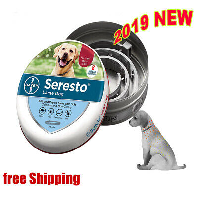 2019 Latest Version - Seresto Flea & Tick Large Dog Collar, Effect 8 Months Safe