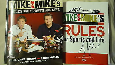 Mike and Mike's Rules for Sports & Life Signed 1/1 DJ