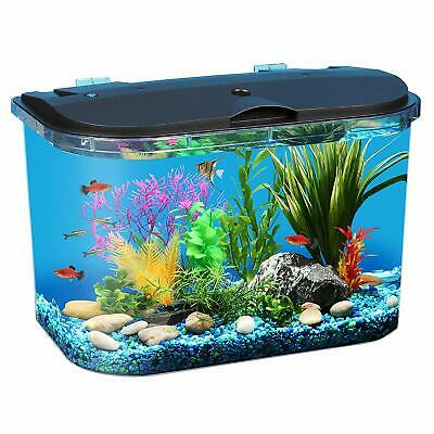 Fish Aquariums Tanks 5 Gallon with Power Filter Clear Acrylic Led Lighting 💎💥